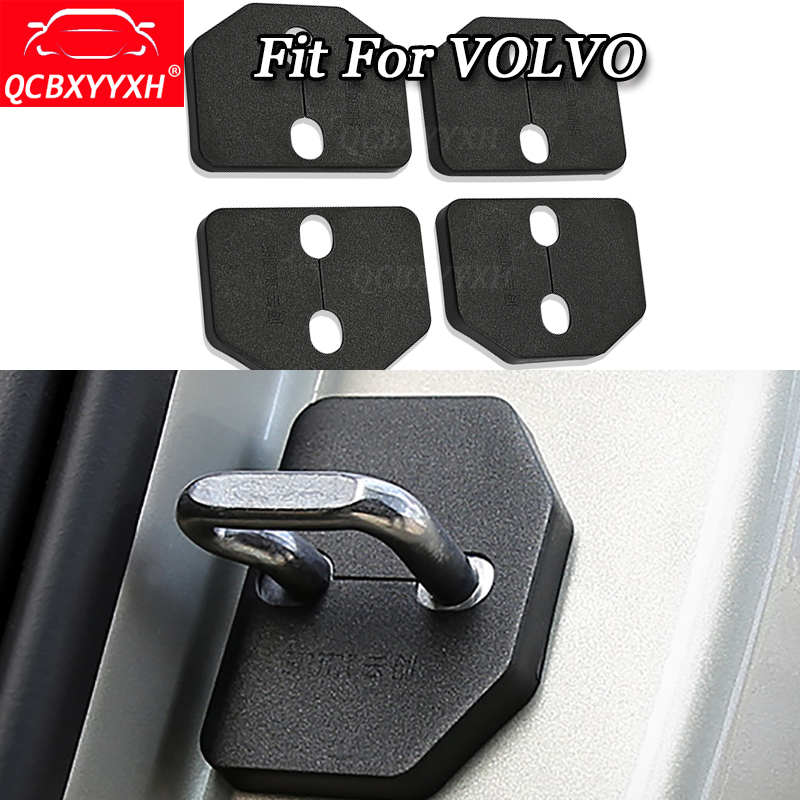 QCBXYYXH Car-Styling 4pcs/set For VOLVO C30 X60 X90 S40 S60 S80 S90 V40 V60 XC60 2006-2018 Car Door Lock Protective Cover Parts