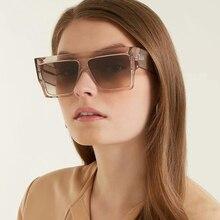 PAWXFB Luxury Oversizd Square Sunglasses Unisex Driving Women Sun Glasses Big Frame Eyeglasses lunettes de soleil Shades