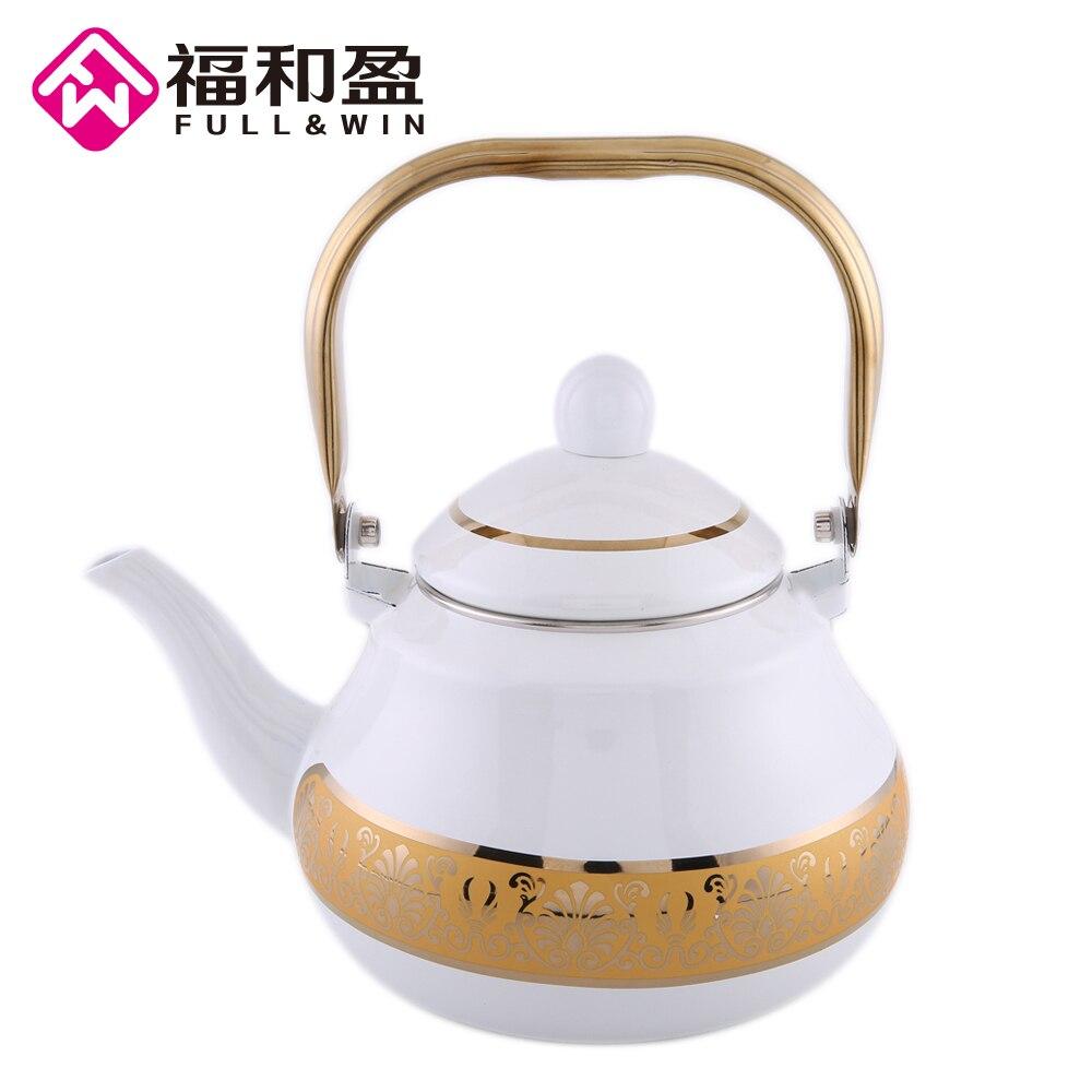 2.0L D'or Blanc Émail Pot Traditionnel Chinois Thé pot en forme de Poire pot Épaissi Eau Bouilloire Électromagnétique Four Pot De Gaz
