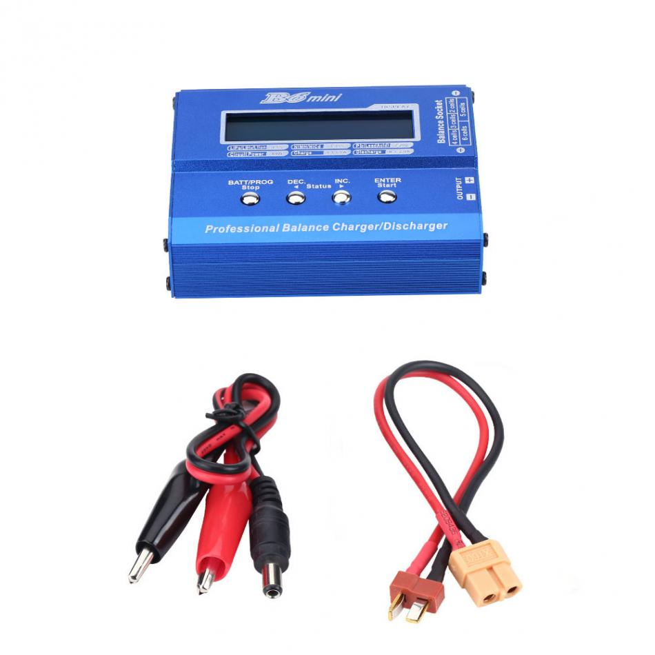 RC Lipo Battery 80W 1-6S Balance Charger Discharger for Mini Drone with XT60 Plug High Quality Remote Controll Balance Charger