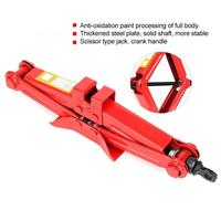 Car Automotive Scissor Jack Stainless Steel Chromed Emergency Crank Lift Stand Tool Car Accessories