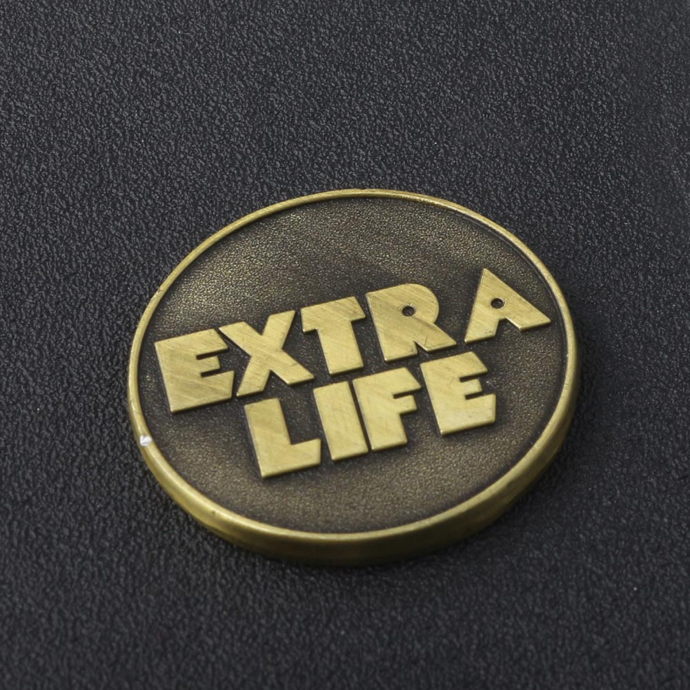 Newest Game Ready Player One EXTRA LIFE Coin Keychain with Jewelry Box Antique Bronze Key Chain Women Men Fans Souvenir Jewelry
