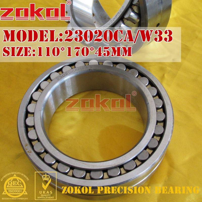 ZOKOL bearing 23020CA W33 Spherical Roller bearing 3053120HK self-aligning roller bearing 110*170*45mmZOKOL bearing 23020CA W33 Spherical Roller bearing 3053120HK self-aligning roller bearing 110*170*45mm
