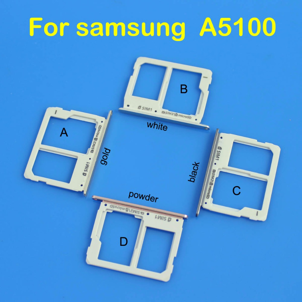 cltgxdd SIM Card Tray Holder slot for samsung galaxy A5100 gold white black powder color