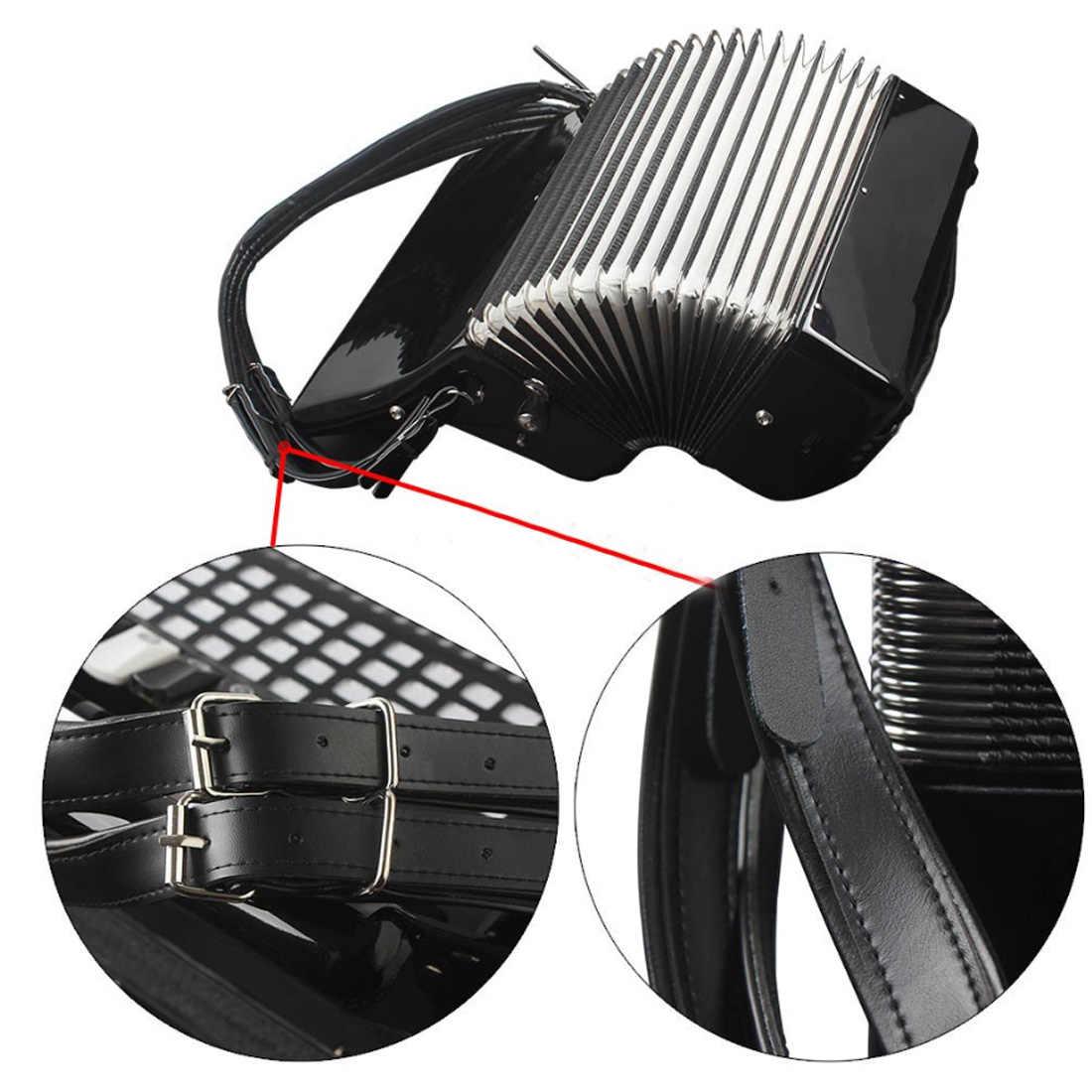 Tout nouveau réglable accordéon sangles en cuir PU bretelles harnais pour 16-120 basse confortable accordéon bretelles