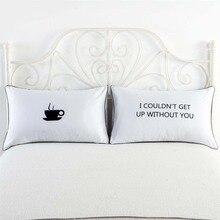 New Arrive Royal Crown Skull Pillow Cases Cover Queen King Designer Decorative Couple Shams White 1pair 48x74cm For Gift