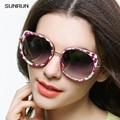 SUNRUN Polarizado gafas de Sol de Las Mujeres 2016 Marca de Moda de Lujo Del Ojo de Gato gafas de Sol Espejo gafas de Sol oculo de sol feminino A1655