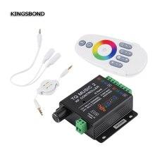 DC12V 24V 18A 6x3A TQ Music2 Controller LED RGB Music Sound Sensitivity Controller with RF Wireless Remote for RGB LED Strip