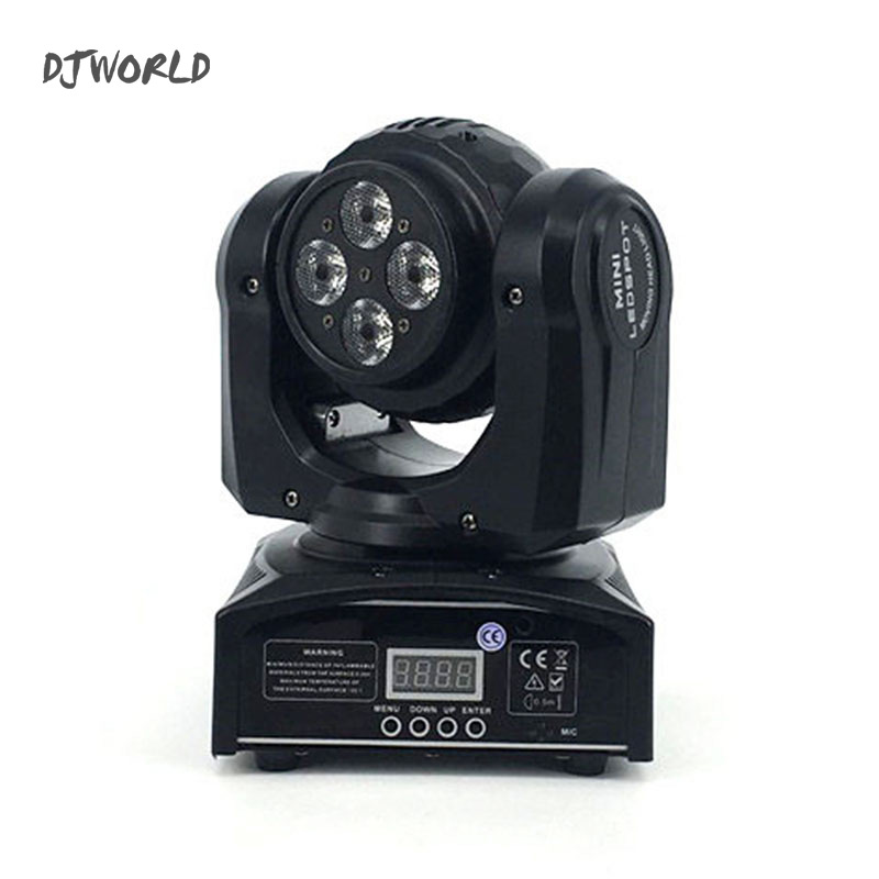 DJWorld Double Side 4x10W+1x10W LED Moving Head Light dmx Rotating Stage Lights Effect For Disco KTV Club Party Light niugul dmx stage light mini 10w led spot moving head light led patterns lamp dj disco lighting 10w led gobo lights chandelier