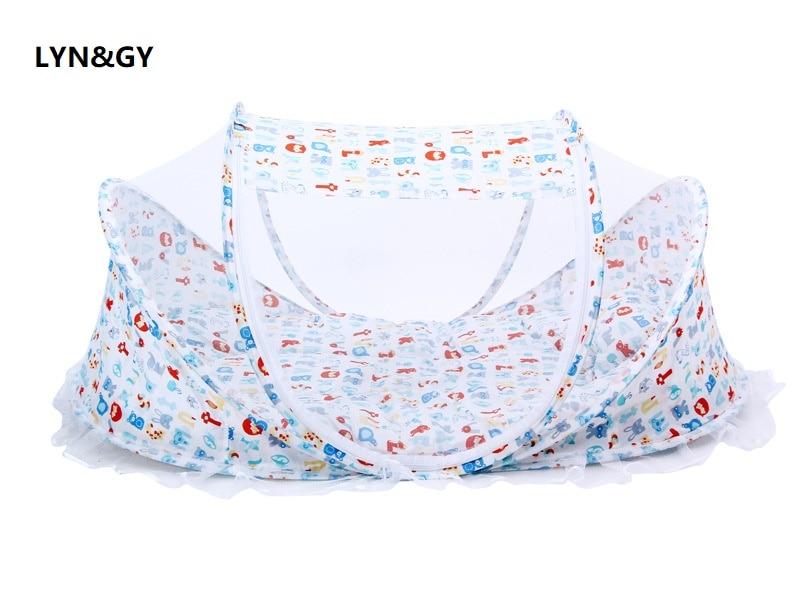 Cartoon Animal Big Portable Soft Baby Crib Bedding Mosquito Net Foldable Bed Sleep Travel Beds Cribs Pillow Mat Set 0-3 Years