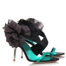 beautiful silk satin Appliques sexy 3 Inches high heels summer lady sandals Bridal Wedding Dress Shoes Bridesmaid Shoes