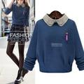 4xl plus de gran tamaño suéter de las mujeres primavera otoño invierno 2016 bermuda feminina Europa Estados Unidos suéter fino femenino A1621