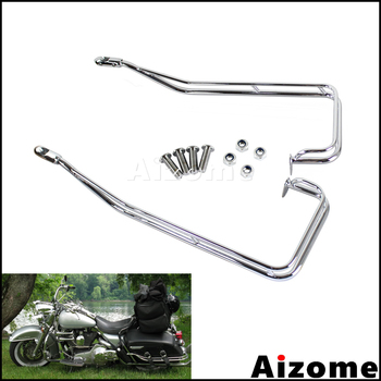 Chrome Motorcycle Saddlebag Guard Rails Kit For Harley Road King Electra Glide Road Street Glide FLHR FLHTC FLHX FLTR 2009-2013