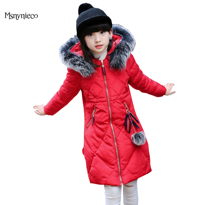 Winter Jackets for Kids Thick Warm Down Coat 2017 New Brand Baby Girls Outerwear Kids Parkas Outdoor Overcoat Children Clothing 2017 new baby girls boys winter coats jacket children down outerwear warm thick outdoor kids fur collar snow proof coat parkas