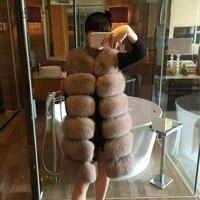 Plegie Fur Vest Women Long Vests Winter Thick Warm Faux Fox Furry Vest Fashion Luxury Coat Fur Jacket Female Long Outwear 4XL