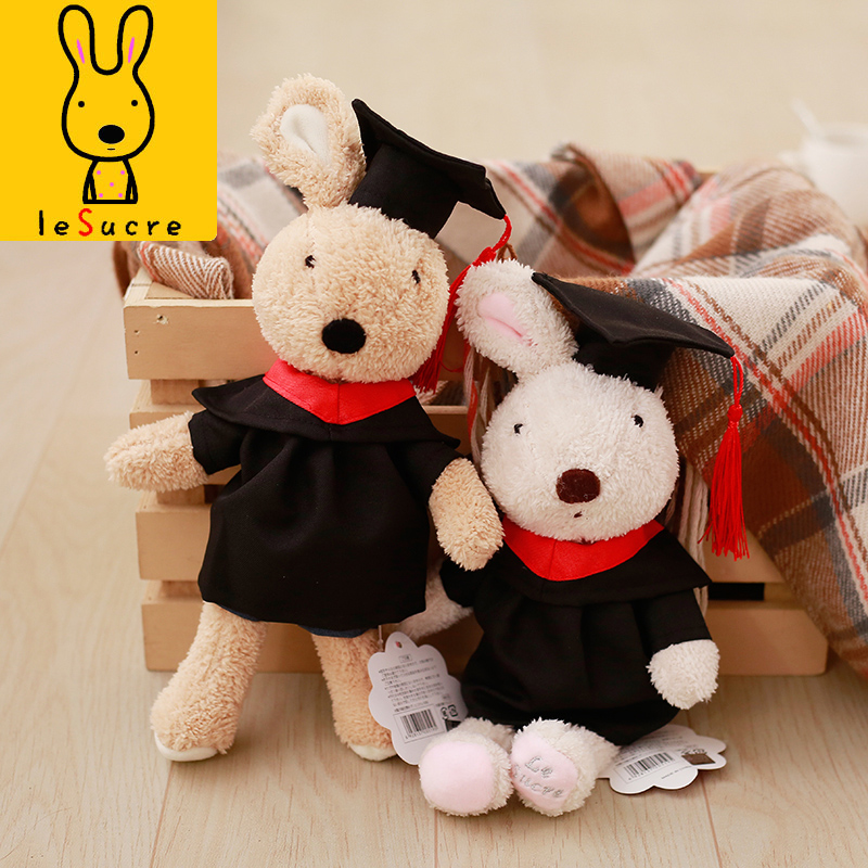 Lovely Le Sucre Dr.Rabbit Plush Dolls Soft Bunny Stuffed Animals Baby Doll Toys for Girl Student Children Graduation GiftsLovely Le Sucre Dr.Rabbit Plush Dolls Soft Bunny Stuffed Animals Baby Doll Toys for Girl Student Children Graduation Gifts