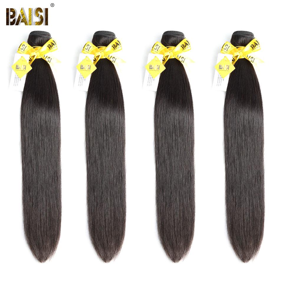 BAISI Hair Unprocessed Peruvian Human Hair 10A Raw Virgin Hair Straight 4 Bundles 100 Human Hair
