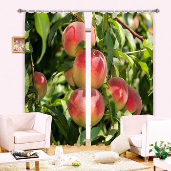3D Curtains Printing of Peach Tree Blackout Curtains Make House More Living Best Curtain for Family
