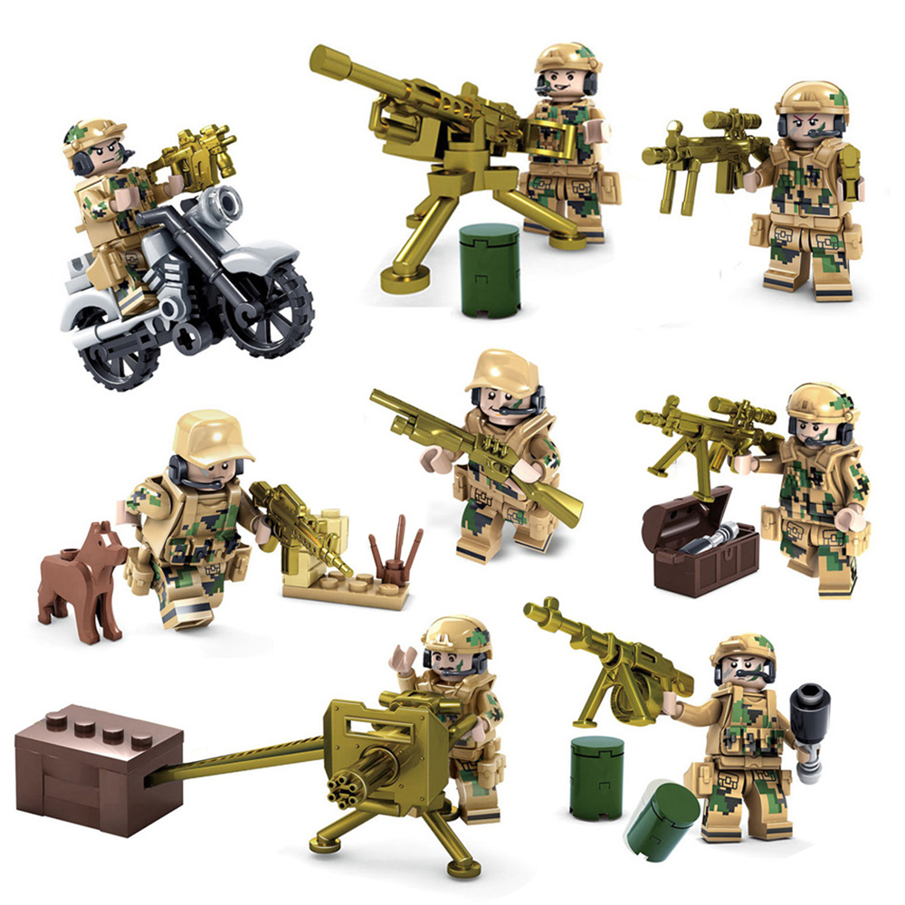NEW SWAT PUBG Figures Plants Accessories Fit Lego Army Soldier Weapon Blocks