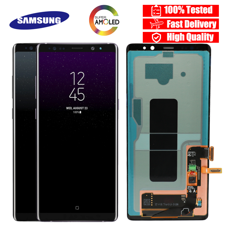 100 SUPER AMOLED 6 3 LCD with Burn Shadow LCD for SAMSUNG Galaxy Note8 N9500 N950F