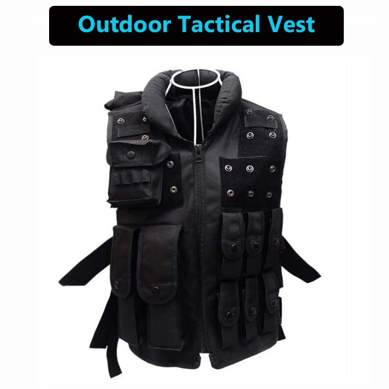 Hot Sale Outdoor Tactical Vests Military Equipment Paintball Army Airsoft Vest Combat Hunting Men Vest CS Wargame Sport Black