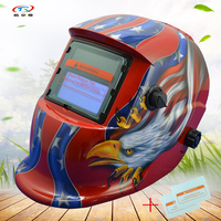 auto darkening welding helmet Solar and Battery Supply full automatic solder mask Mig Mag Arc welding Shield Cap HD10(2233DE)W