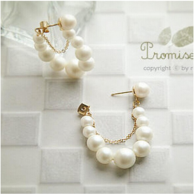 US $0 84 |Mini order $1 ) string earrings wholesale jewelry pearl earrings  original meaning / earrings Free Shipping 4ED43-in Stud Earrings from