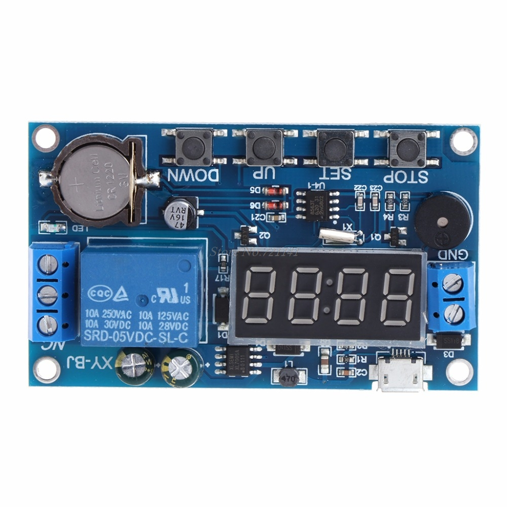 Trigger Cycle Timer Delay Switch 12v 24v Circuit Board Dual Mos Tube Led Indicator For Games Electronic Relay Module 24h Timing Control Integrated Circuits