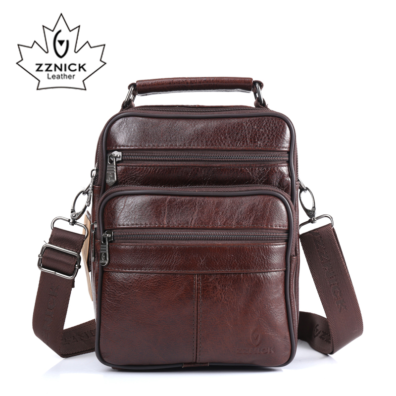 ZZNICK 2017 Men Bags Ipad Handbags Sheepskin Leather Male Messenger Purse Man Crossbody Shoulder Bag Men's Travel Bags  8101