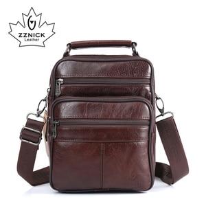Image 1 - ZZNICK 2017 Men Bags Ipad Handbags Sheepskin Leather Male Messenger Purse Man Crossbody Shoulder Bag Mens Travel Bags  8101