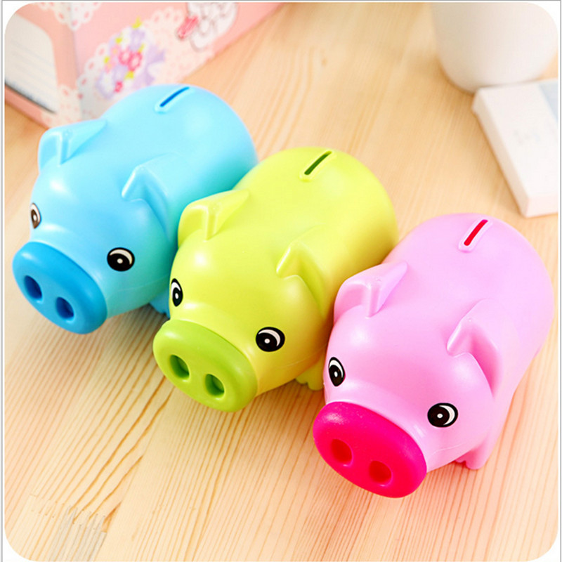Cartoon piggy bank saving plastic piggy bank cute couple gift ideas for  children Decoration money boxes-in Money Boxes from Home & Garden on  Aliexpress.com ...