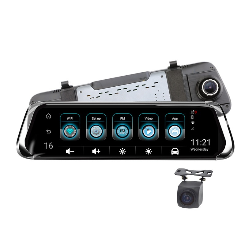 Android Voiture DVR 10 IPS Tactile 4g Miroir DVRFHD 1080 p WIFI auto greffier ADAS GPS Navi arrière rétroviseur avec caméra