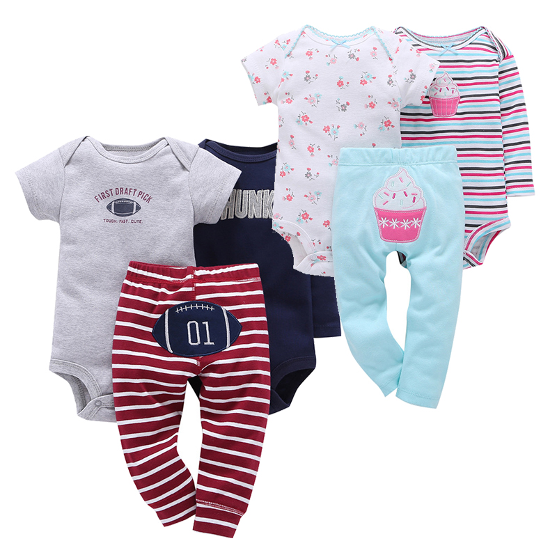 Baby Girl Clothes Sets Infant Animal Print Baby Rompers+bodysuit+pants 3pcs/lot Autumn Spring Cotton Boys Clothing Suits Toddler brand cute toddler girl clothes rainbow color sling 2 pcs baby girl clothing sets for 6m 3y free shipping