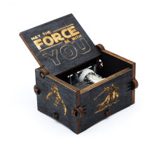 2018 new Black Star Wars Music Box Game of Thrones Castle In The Sky Hand Cranked Wood music box Christmas Gift(China)