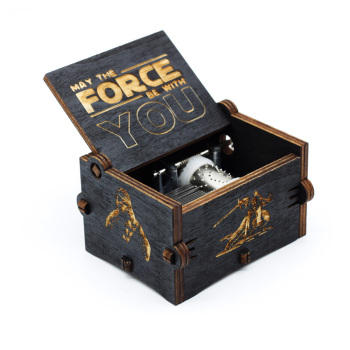 Black Star Wars Music Box