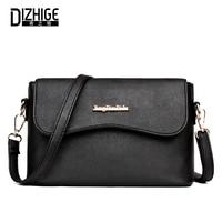 DIZHIGE Brand Fashion High Quility PU Leather Women Bag Solid Crossbody Bag For Women Designer Women