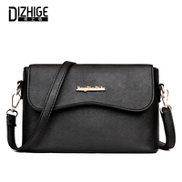 DIZHIGE Brand Fashion High Quility PU Leather Women Bag Solid Crossbody Bag For Women Designer Women