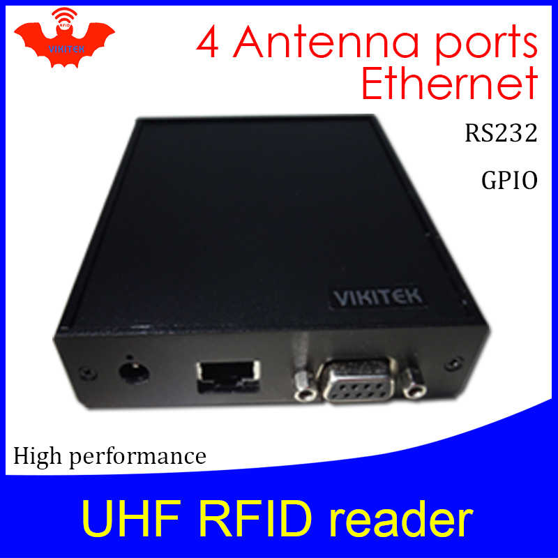 UHF RFID Reader Impinj R2000 4 Antenna Port Ethernet 915MHZ For Warehouse Logistic Production Line  Fixed Rj45 Rfid Chip Reader