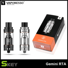 Original Electronic Cigarette Vaporizer Vaporesso Gemini RTA Tank 3ML Black and Silver Color 510 Thread Atomizer For Vaping