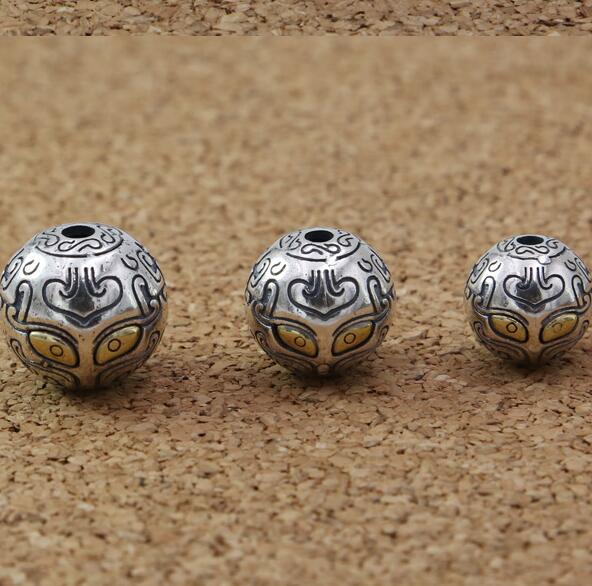 Handmade 925 Silver Oriental Beast Beads Sterling Fengshui Good Luck