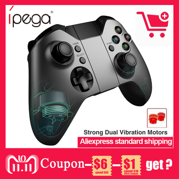 PG-9062S Ipega Sem Fio Bluetooth Controlador Do Jogo Gamepad Dual Motor Joystick para iOS Xiaomi TV PC vs gamesir g3s jostick pará p