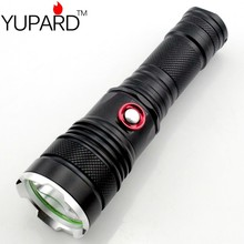 YUPARD hot sale XM-L2 LED Flashlight lamp Torch 26650/18650/AAA rechargeable battery super T6 LED tactical camping hunting
