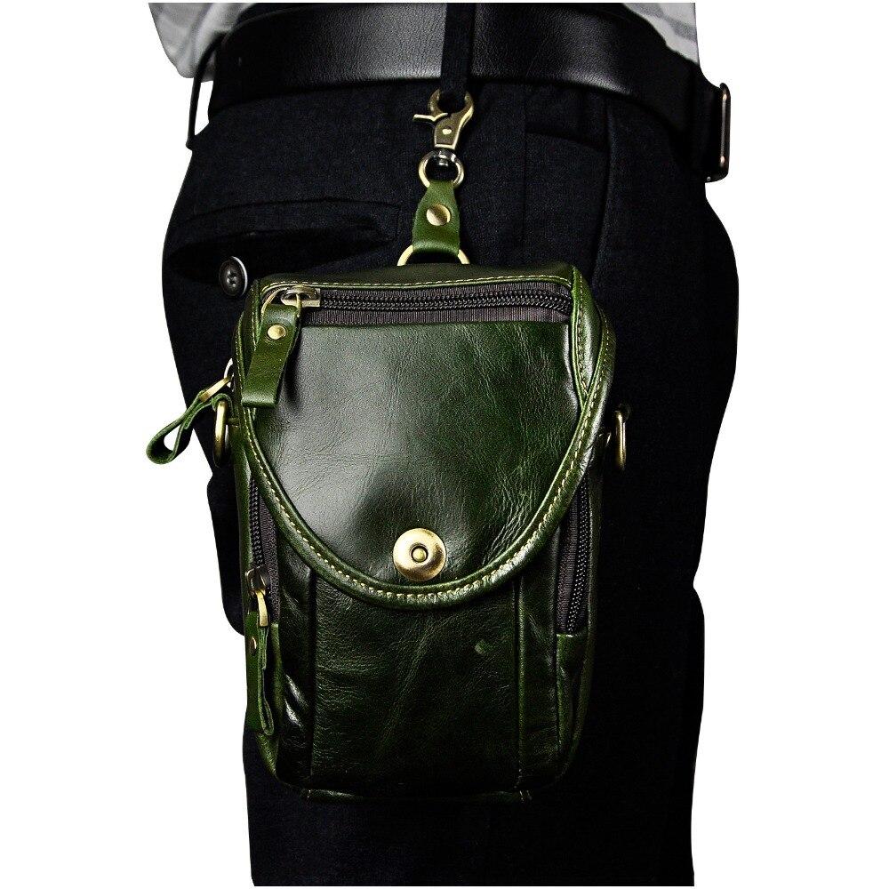 Mode äkta läder multifunktion sommar påse krok midja pack - Bälten väskor - Foto 6