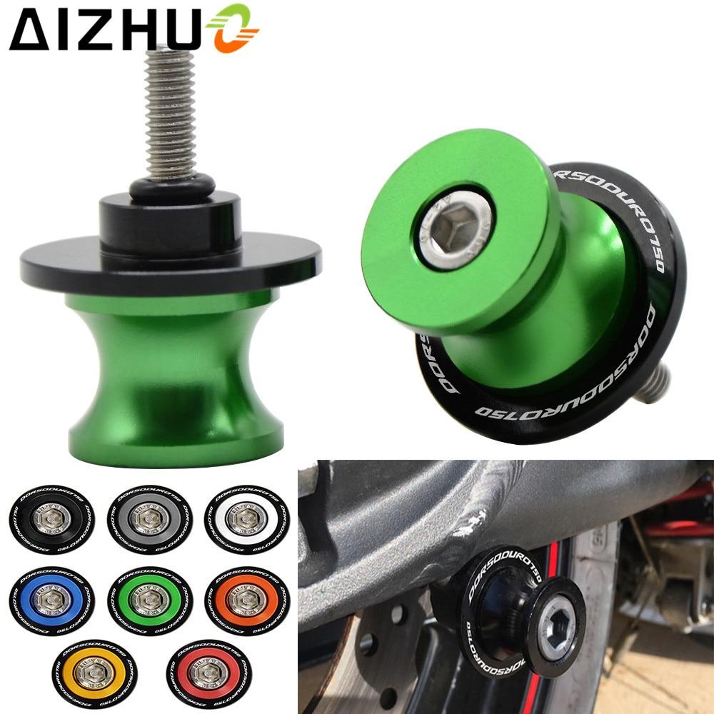 6mm For Aprilia Dorsoduro 750 Motorcycle Swingarm Slider Spool Motorbike CNC Aluminum Accessory Dorsoduro 750  LOGO  Stand Screw