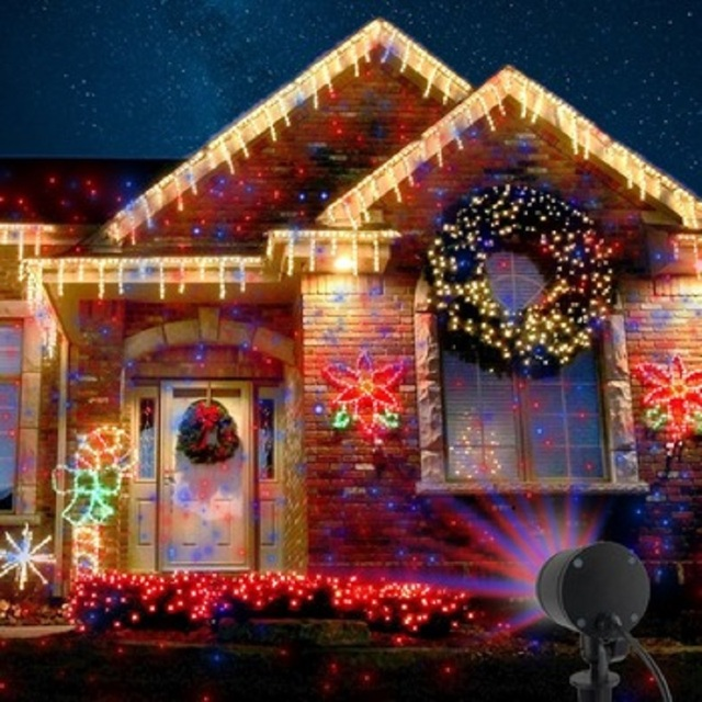 Outdoor Christmas Lights projector Waterproof Red and blue fixed Star motion showers for Holiday and & Outdoor Christmas Lights projector Waterproof Red and blue fixed ...
