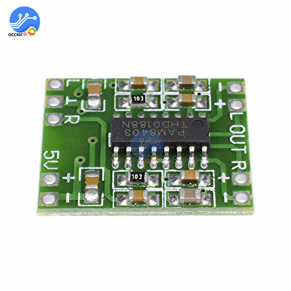 Mini PAM8403 2*3W Digitale Versterker Board Klasse D Audio Speaker Sound Board 2.5V Tot 5V modulo Amplificador