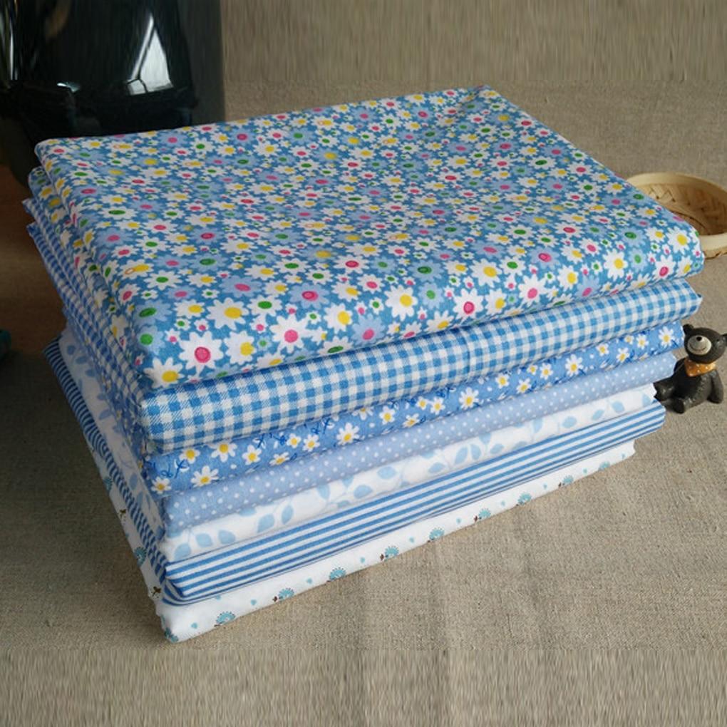 7 шт., хлопковая ткань, ткань для рукоделия, набор, Лоскутная Ткань, шитье, лоскутное шитье, цветочный узор, 25x25 см, аксессуары ручной работы