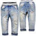 3753 0-3 años chico chica pantalones vaqueros del bebé pantalones vaqueros de Los Niños no fade luz azul pantalones de primavera otoño niño niña bebé fshion suave