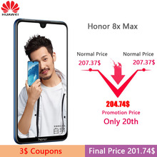 Huawei Honor 8X Max 7.12 inch Mobile Phone Android 8.1 16MP Octa Core Screen Fingerprint ID 4900mAh Battery Smartphone (China)