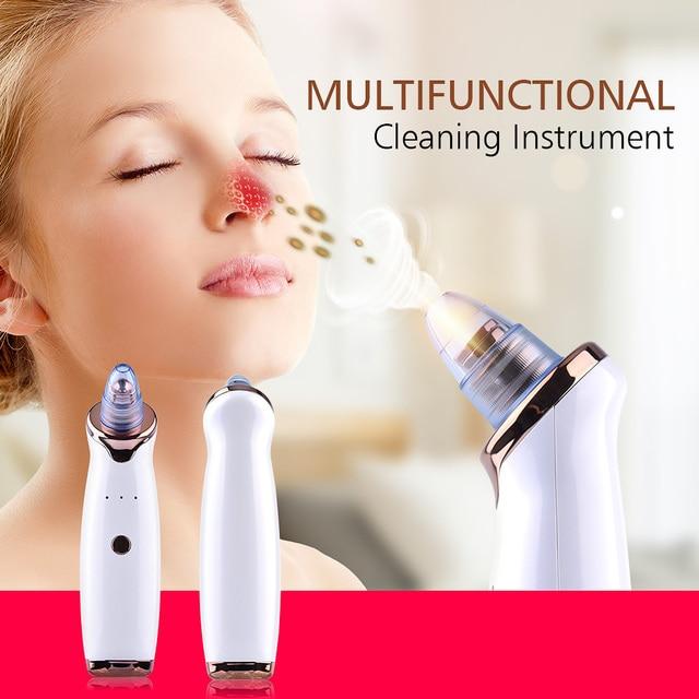 Blackhead Remover Skin Care Pore Vacuum Acne Pimple Removal Vacuum Suction Tool Facial Diamond Dermabrasion Machine Face Clean 2